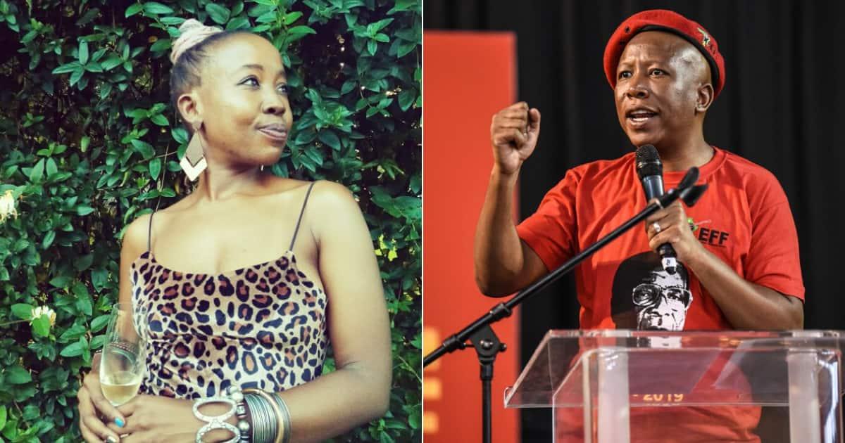 Image result for Ntsiki Mazwai Read more: https://briefly.co.za/47907-ntsiki-mazwai-takes-julius-malema-i-black-conscious.html