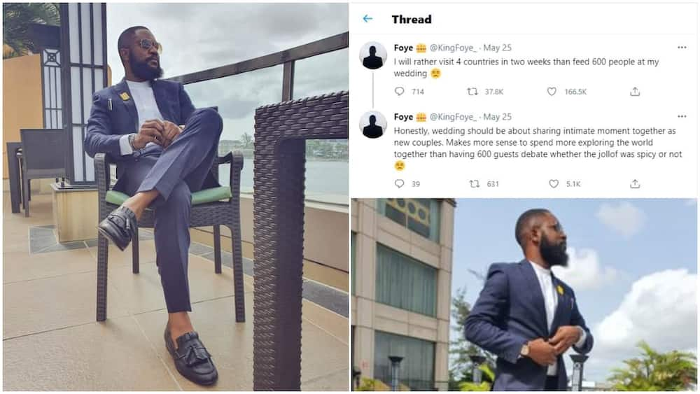 I'd rather use my money to travel than feed 600 people at my wedding - Nigerian man blows hot