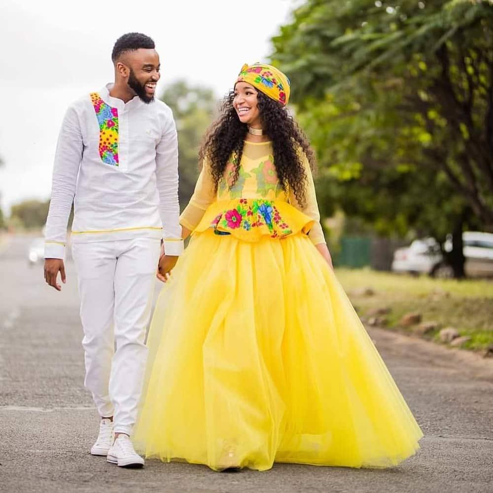 South African traditional wedding dresses Tsonga