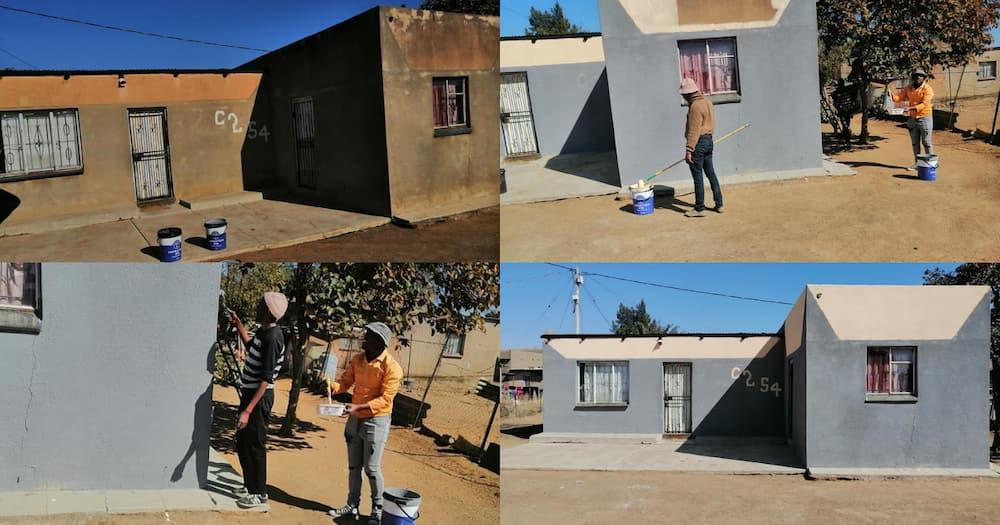 Local man, paints house, free, Mandela Day 2021