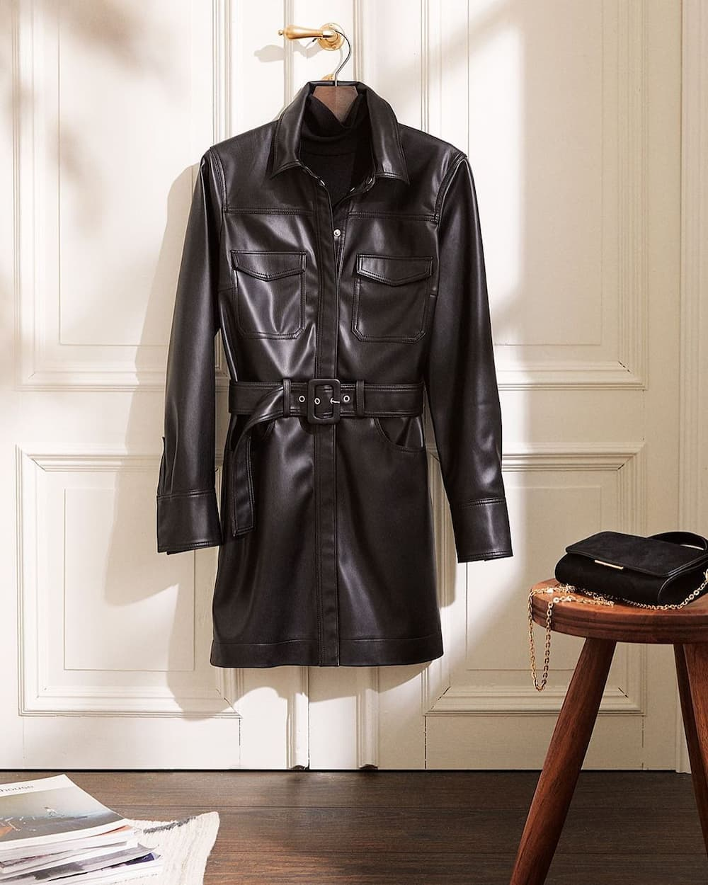 Can I wear my leather jacket in the rain?