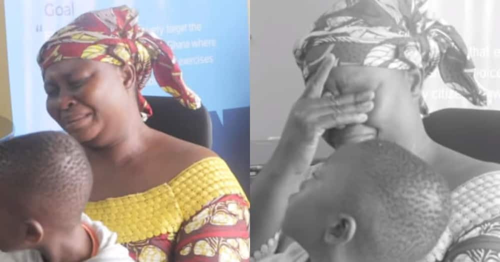Mother in tears as her 6-year-old son with a hole in the heart receives over GHc52k for surgery
