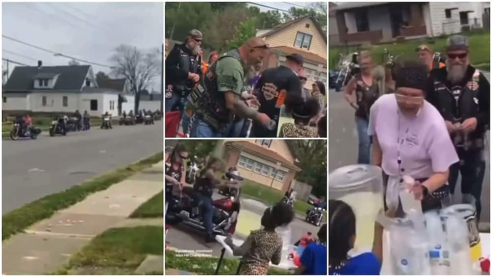 Video Shows Emotional Moment Many White Bike Men See Black Kid on the Street, Stop to Buy What She's Selling