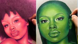 Gifted: Young artist shows off amazing colours in drawings