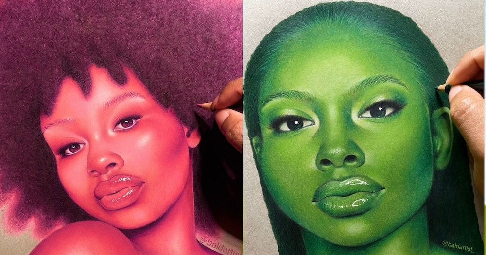 Young, Talented, Artist, Shows Off, Colours in Drawings