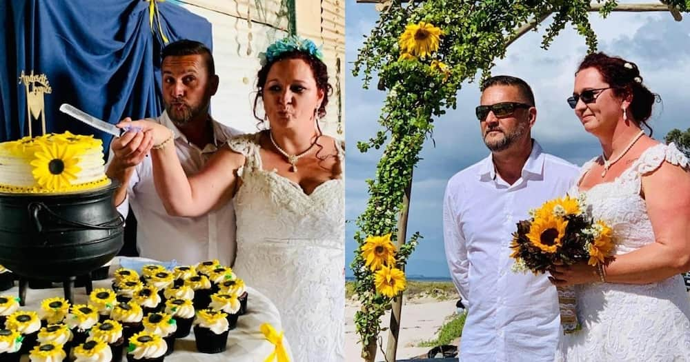 Couple finally gets to say I do after lockdown in a beautiful ceremony