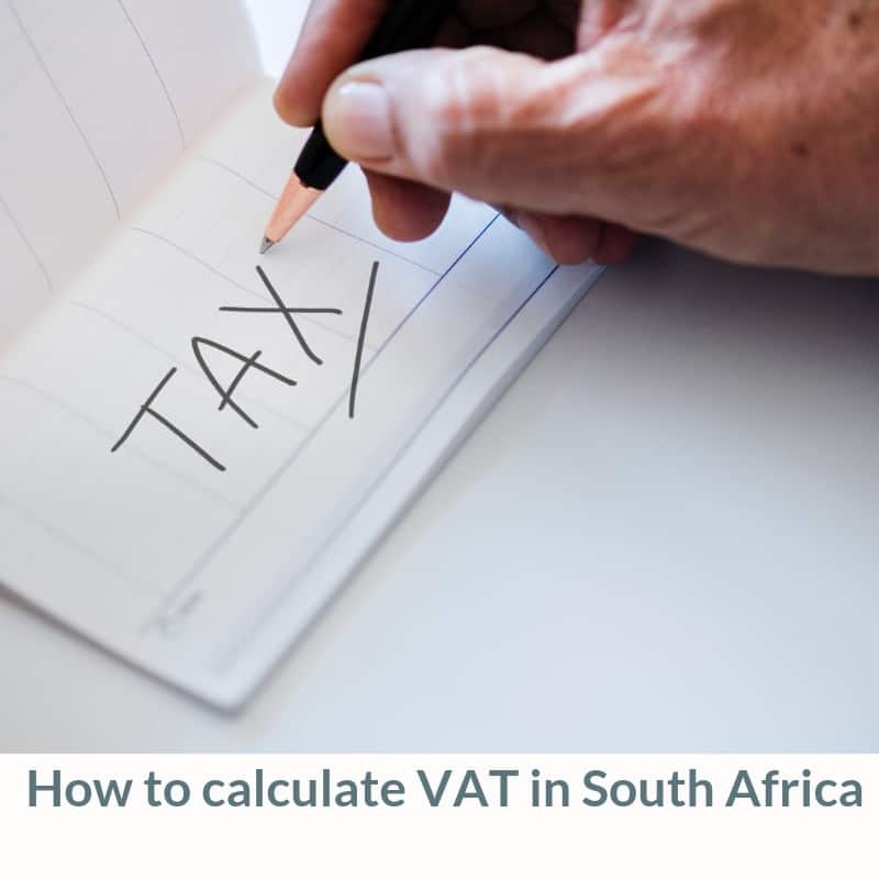 How to calculate VAT in South Africa