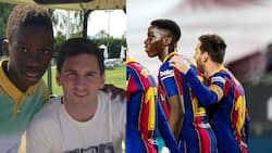 """Ilaix Moriba shared a throwback pic of him and Messi: """"How it started, how it's going"""""""