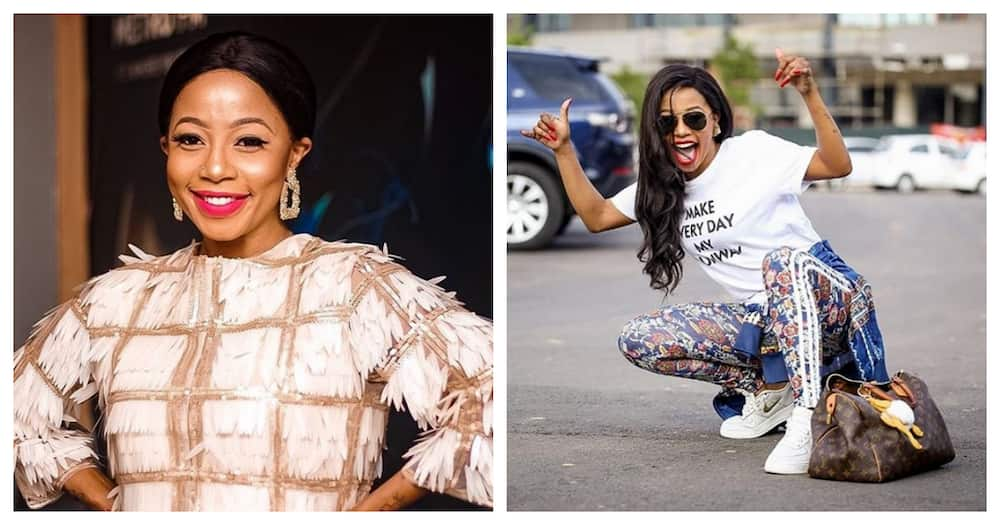 Like momma like son: Kelly Khumalo shares cute pic with her love