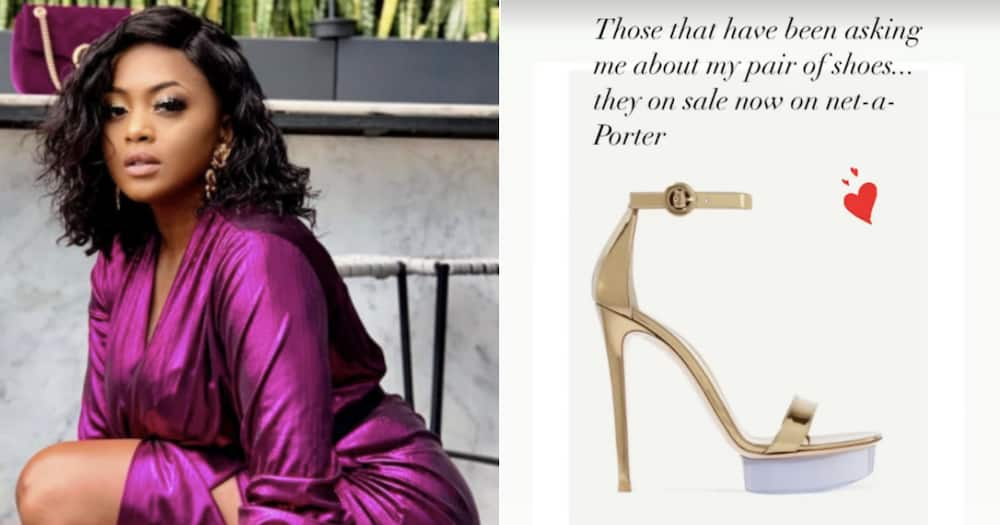 Lerato Kganyago shows off R17 000 designer shoe on Instagram and fans are here for it