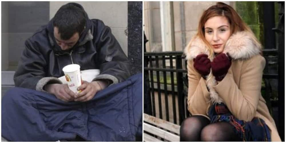 Homeless man helps stranded university student with his last N1706, she raises N26m for him in appreciation