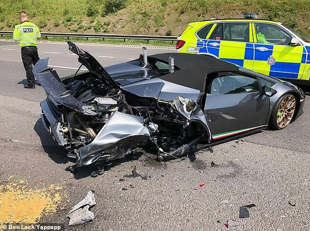 Man crushes new KSh 26 million Lamborghini 20 minutes after leaving car dealer shop