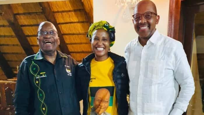 "Duduzile Zuma-Sambudla opens up after spending a day with Jacob Zuma: ""I got a hug."""
