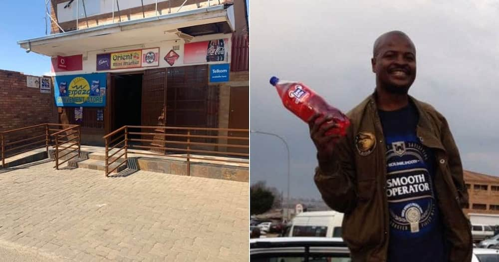 Businessman Sipho Phakathi now owns five spaza shops after making R30 profits. Image: @KasiEconomy/Twitter