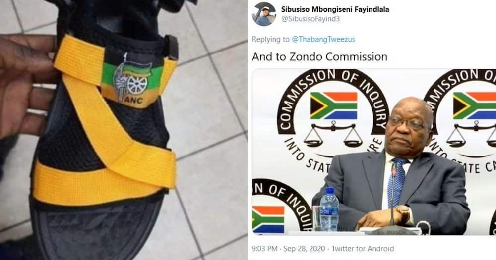 """SA hilariously reacts to pic of ANC sandals: """"Lead you to corruption"""""""
