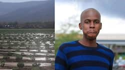 """""""Learning how to work the land"""": Man celebrates bagging job on a farm"""