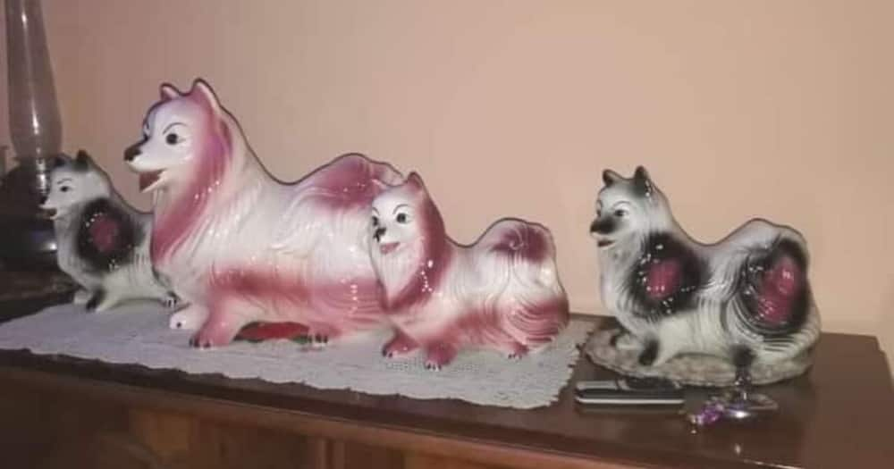 Mzansi, dog ornaments, nostolgic