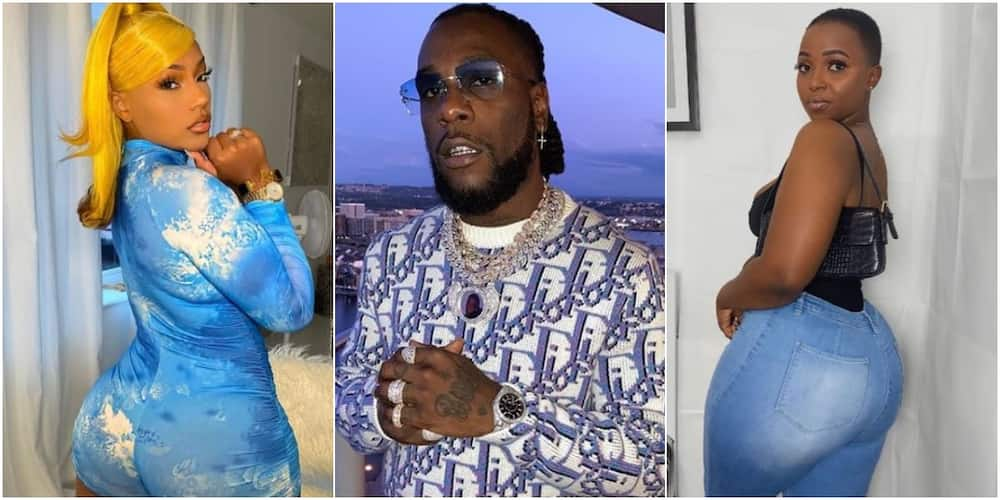 Burna Boy's side chick calls him out, says she kept it a secret for 2 years (video)
