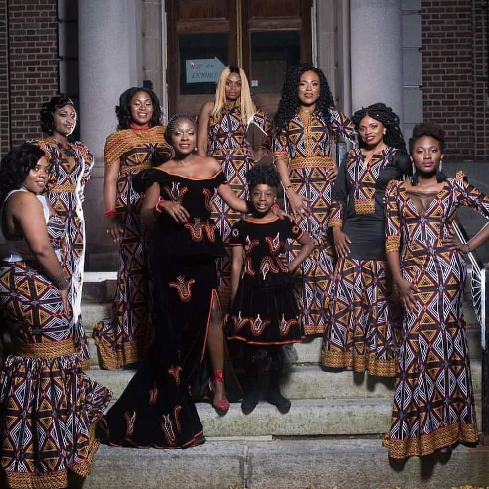 Cameroon bridesmaids ensemble