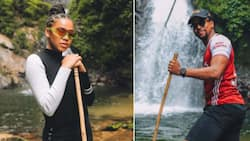 Sho Madjozi and Maps Maponyane caught together on holiday by social media detectives
