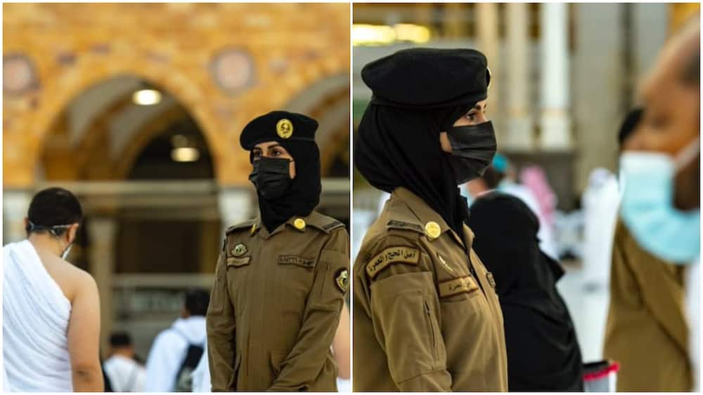 Photos of 'First' Female Security Officer Wearing Trousers in Saudi Arabia's Grand Mosque Sparks Reactions