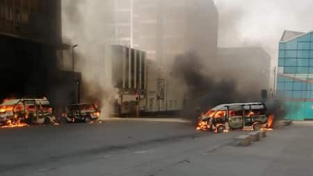 Taxi torched at Wanderers Taxi Rank in Joburg, SA unsettled: 'Govt must take over'