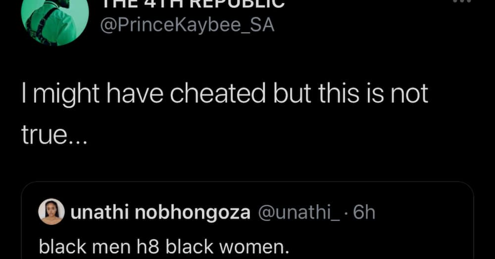 Prince Kaybee Admits to Cheating, Disputes Hating Black Women