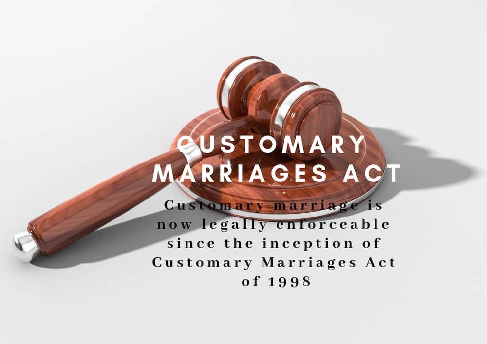 customary marriage act