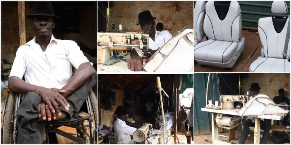 Mudi Solomon: Meet physically-challenged man who makes beautiful furniture