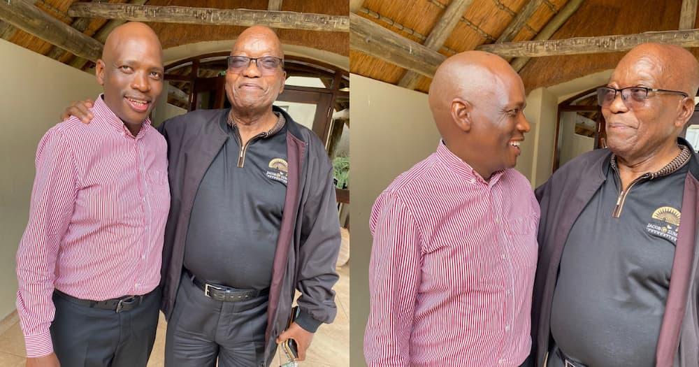 Jacob Zuma hosts another guest at Nkandla, Hlaudi Motsoeneng