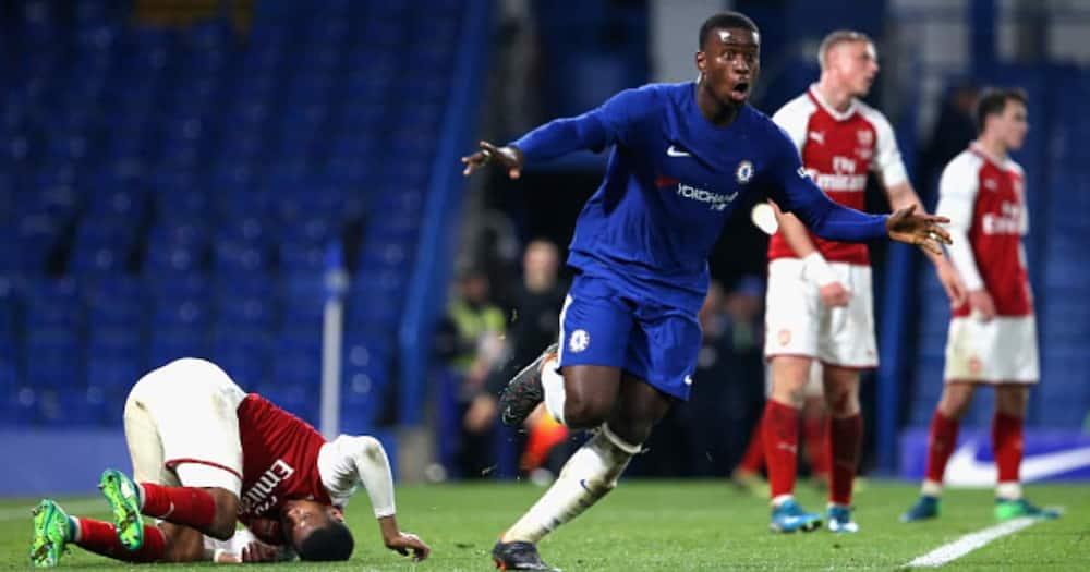 Marc Guehi, FA Youth Cup Final, first leg match, Chelsea, Arsenal, Stamford Bridge
