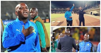 Watch as Bloemfontein Celtic fans serenade Pitso 'Jingles' Mosimane after PSL clash