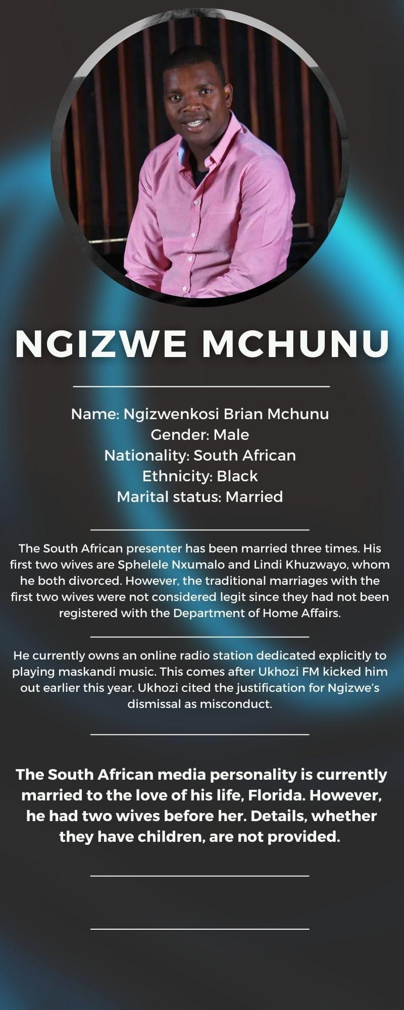 Ngizwe Mchunu bio