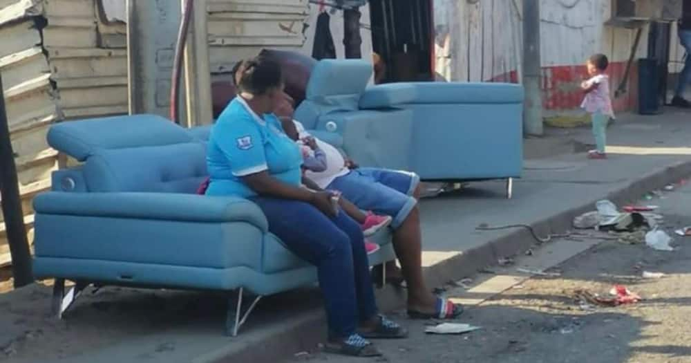 Blue couch, protests, missing