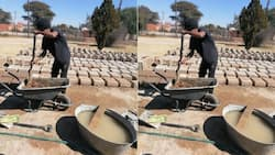 Unemployed man with Honours degree hustles to make bricks to pay for data