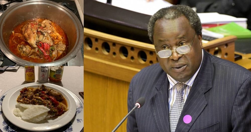 Another installment of Tito Mboweni's cooking