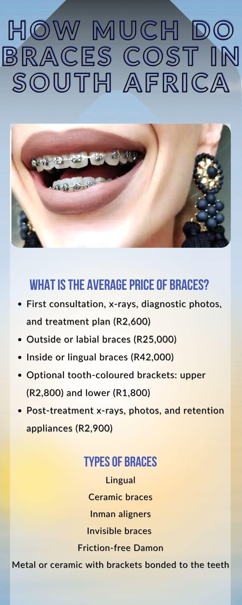 How much do braces cost in South Africa