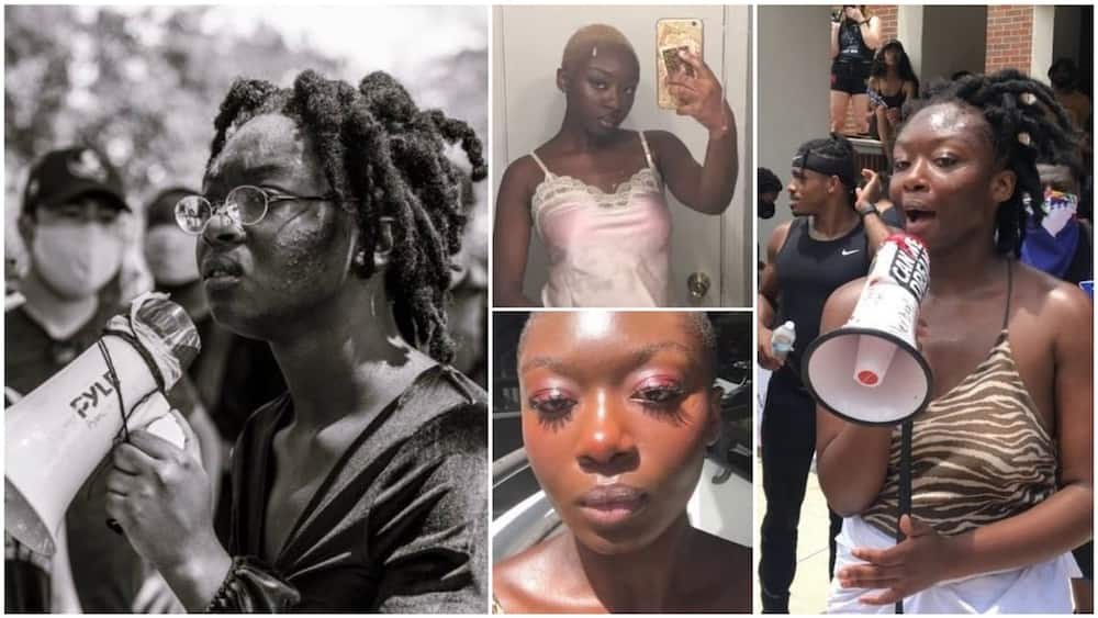 A collage of Oluwatoyin's pictures. Photo source: Twitter/Oluwatoyin
