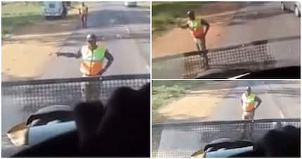Video shows metro cop losing his cool as bus driver refuses to comply