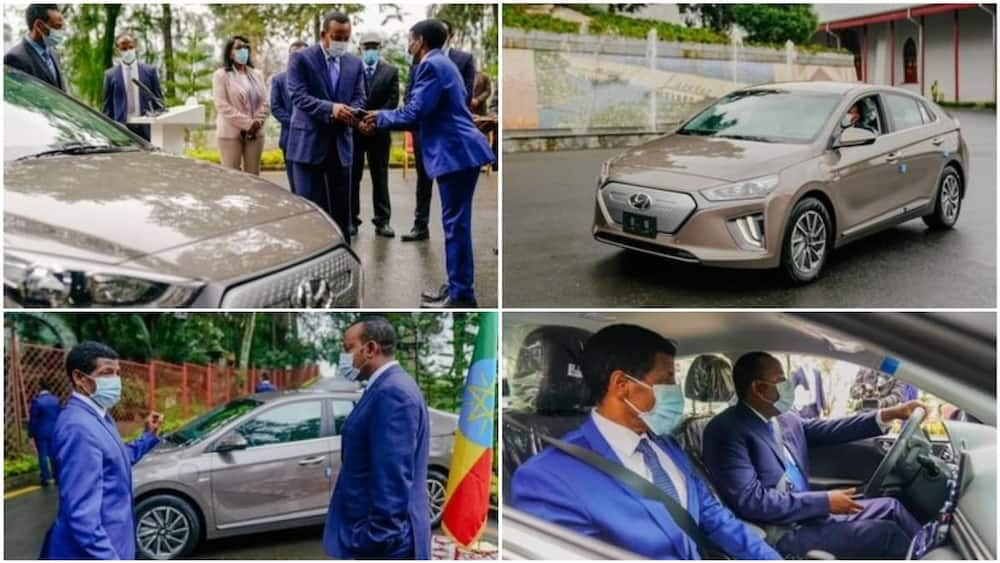 A collage of the car. Photo source: Twitter/CGTN Africa