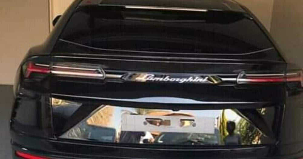Tshego shows off his new R3 million Lambo ride, stunning black beauty