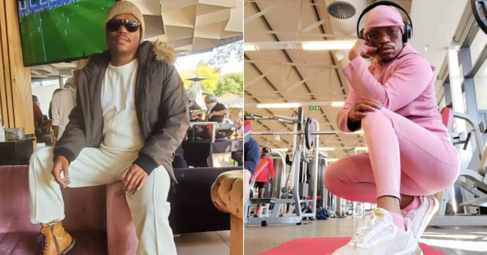 Somizi stresses the importance of wearing face masks when taking snaps