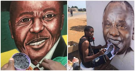 Young man shows Rasta how its done with stunning portrait of Ramaphosa