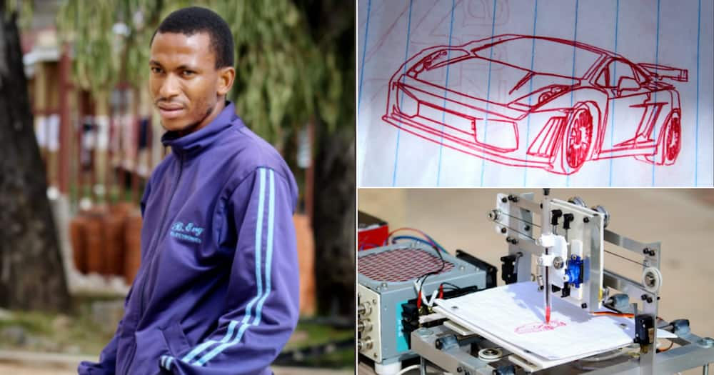 Local Engineering Student Sketches With Impressive Prototype, Plans to Build Machine