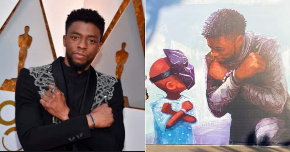 The late Chadwick Boseman honoured by Disney in breath-taking mural