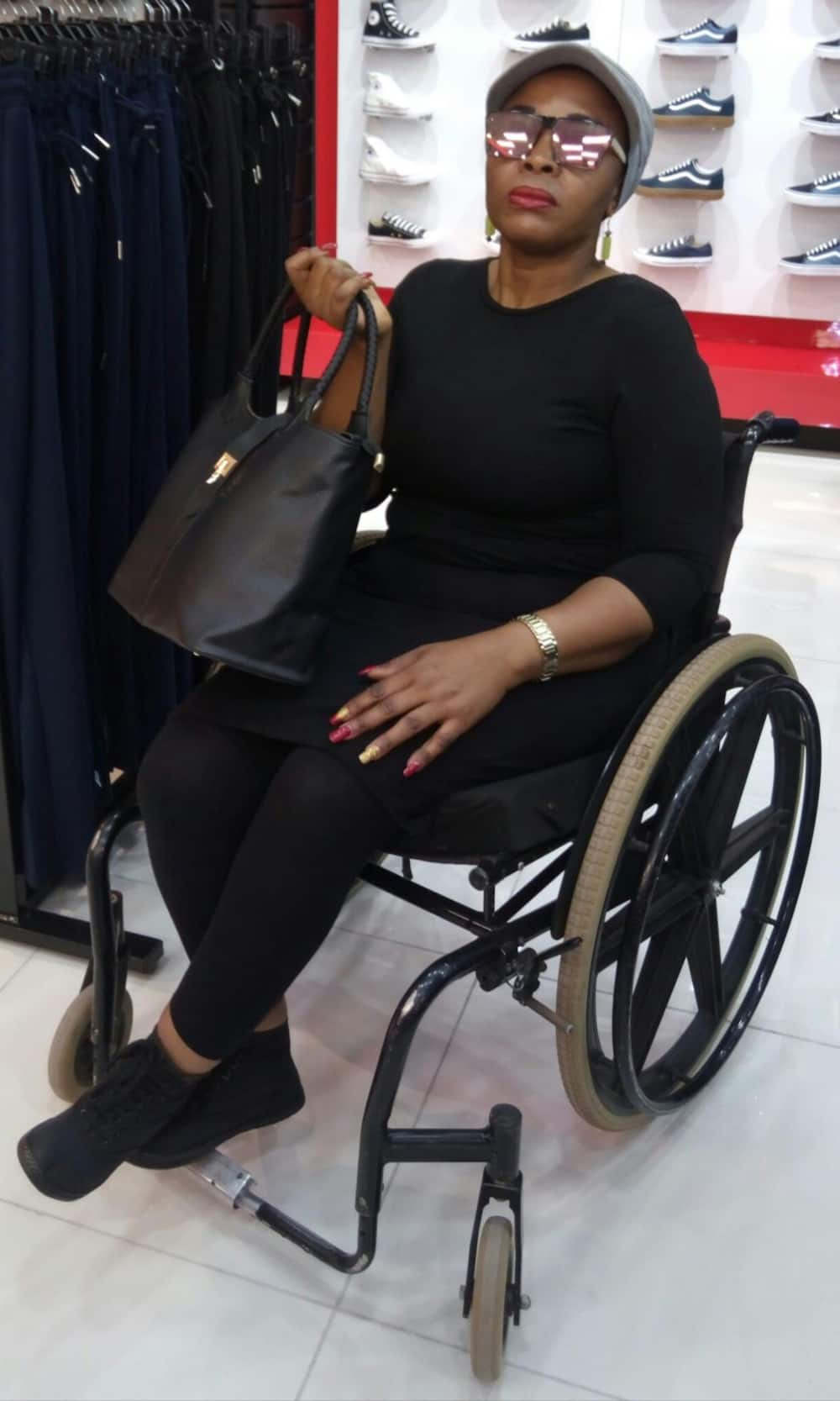 Wheelchair-bound woman post inspirational message about success