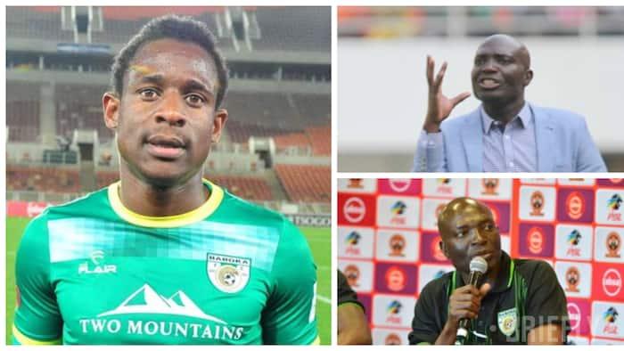 Baroka coach Wedson Nyirenda and star player Talent Chawapiwa make peace