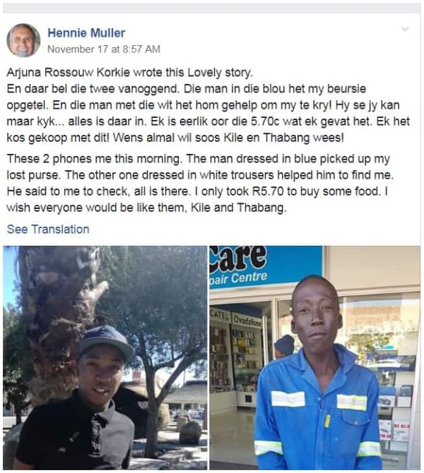 Hennie Muller's post in the Positive Racial Testimonies in SA Facebook group