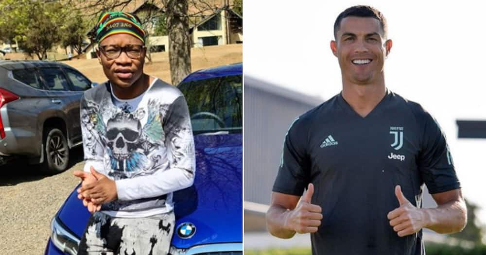 Master KG bursts with pride as Cristiano Ronaldo grooves to Jerusalema