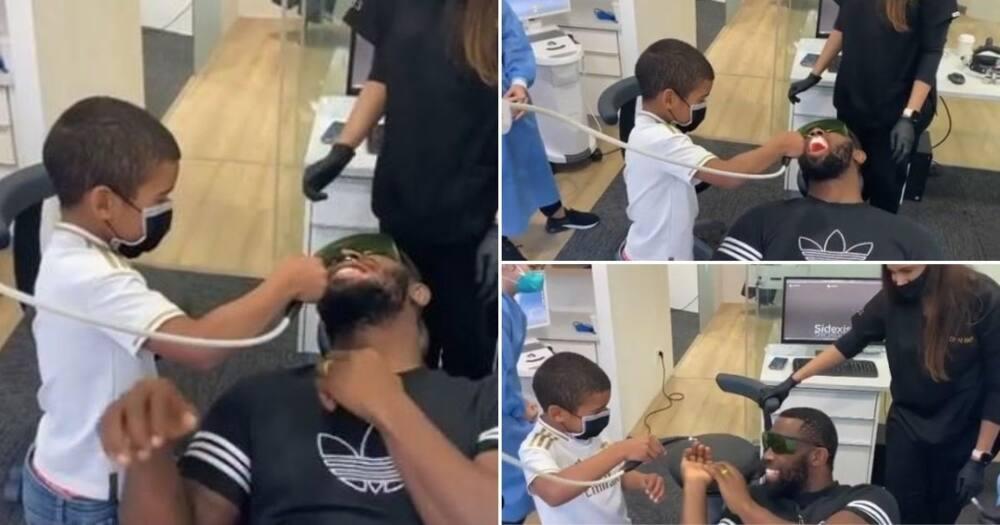 Siya Kolisi's son hilariously acts as his dentist in adorable video